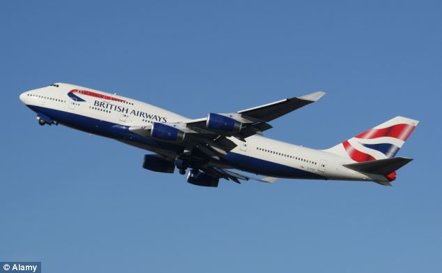 Airline: The couple arrived in the Maldivian capital, Male, on a British Airways flight yesterday (file picture)