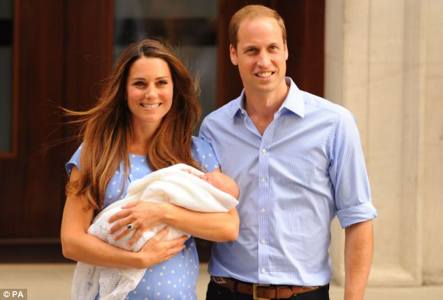 Family: The royals, pictured with Prince George who they left at home, were whisked from British Airways's First Class cabin into a VIP lounge before transferring on to a private hydroplane to take them to the isle