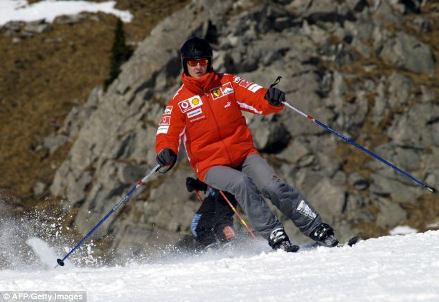 Schumacher was injured in a skiing accident on December 29 (file picture from 2005)