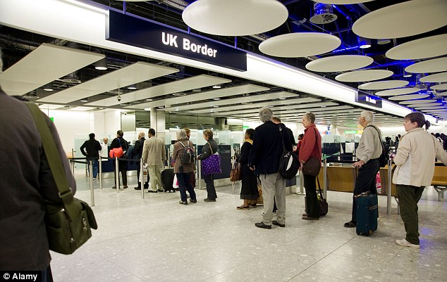 Border control: Tory MP Dominic Raab said it 'beggared belief' that a judge paid to defend our borders had helped someone who had flouted them (file image)