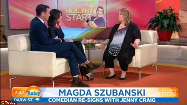 Common issue: The 52-year-old appeared on The Today Show on Tuesday morning and said her weight 'slowly crept back up'