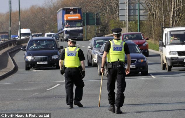 Distressed: The 40-year-old was discovered in a distressed state on the side of the A66 dual carriageway in Middlesbrough this morning, Cleveland Police have confirmed