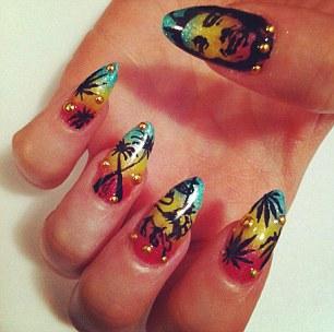 Nail art by Tacarra Sutton