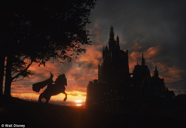 Her prince: Another still appears to show the fairytale castle