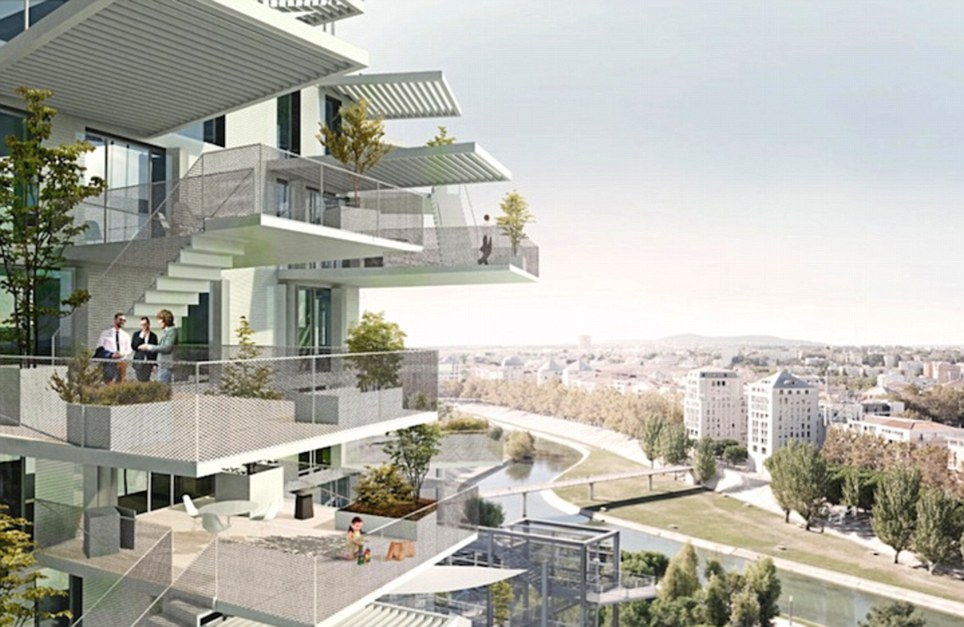 Offering 120 apartments, The White Tree will offer residents the chance to pick from various units with different floor plans due to structure's unique form