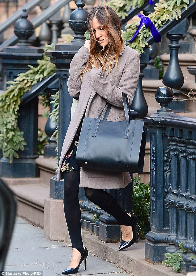 Sarah Jessica Parker Steps Out Again In Stirrup Leggings