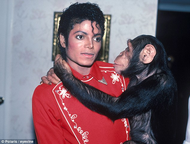 Image result for michael jackson pet monkey