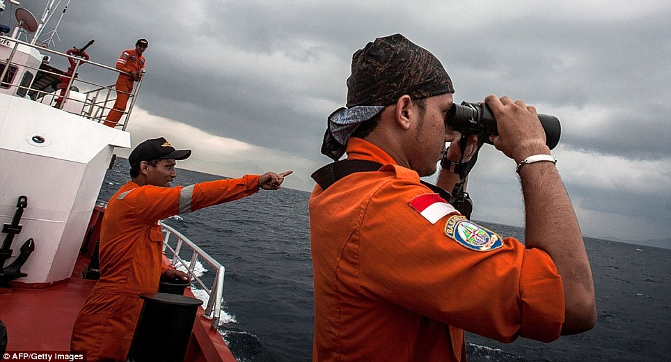 Multinational: Indonesian rescue personnel join in the search for the missing plane