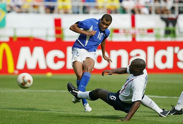 Image result for rivaldo goal vs england 2002