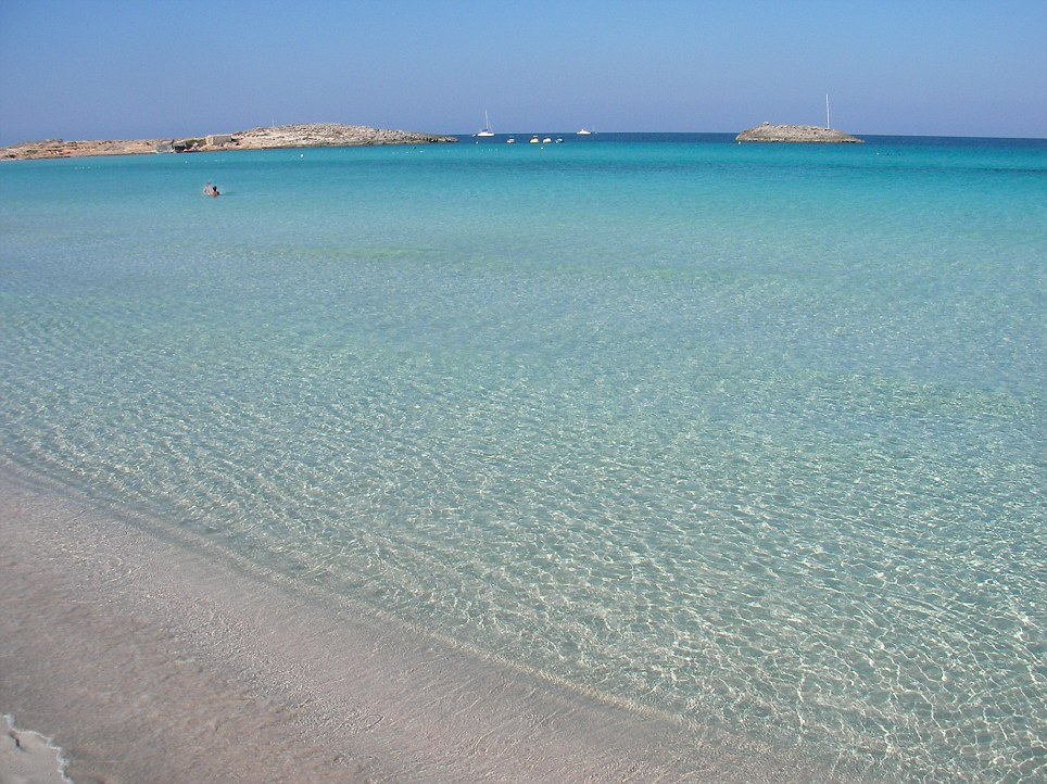 Spanish delight: Playa de ses Illetes, in Formentera, has been crowned the sixth best beach in the world
