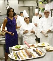 Tiny cookies: Mrs. Obama has pushed for smaller dessert portions during official White House dinner events