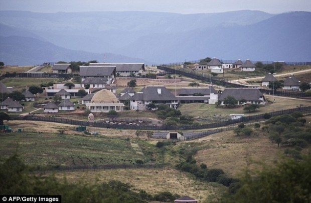 The controversial homestead of South African President Jacob Zuma in Nkandla, which through extensions caused neighbors to move and unnecessary additions to be made under allegedly false claims