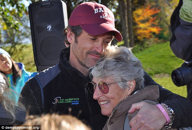 Passed away: Patrick Dempsey's mother Amanda died on Monday night after an almost two decade fight with ovarian cancer