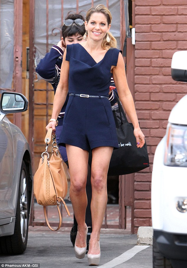 Candace Cameron Bure Wears Mini Playsuit At DWTS Rehearsal