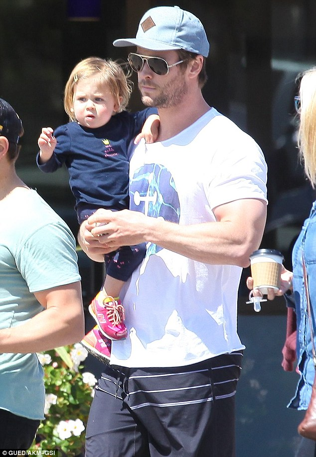 Chris Hemsworth Gives Daughter India Rose Some Father One
