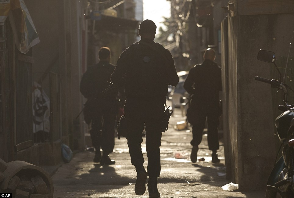 Early evening today the troops stormed the favela. It is unknown how long the operation will last. Once troops leave a 'pacification' force will be introduced into Mare