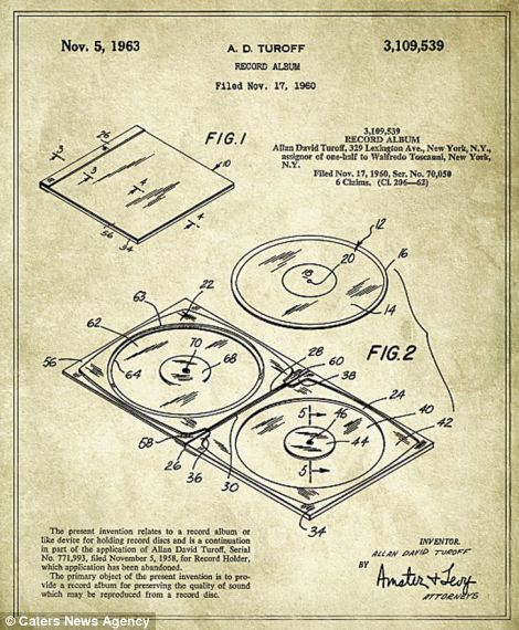 A blueprint of the CD is pictured