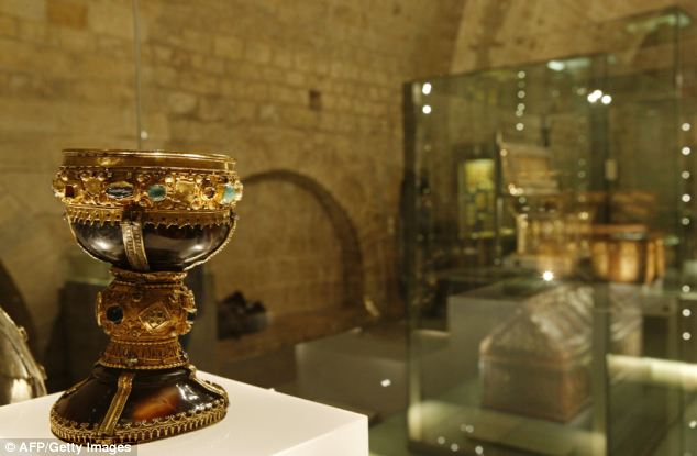 Margarita Torres and Jose Miguel Ortega del Rio claim Arabic manuscripts prove Christ's onyx chalice was stolen from Jerusalem by Muslims and disguised with jewels