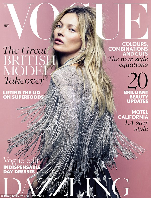 Image result for vogue magazine kate moss