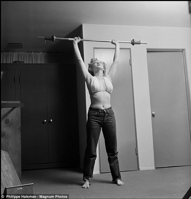 Glimpse: The candid shots of Marilyn working out didn't make it to the magazine, and have rarely been seen