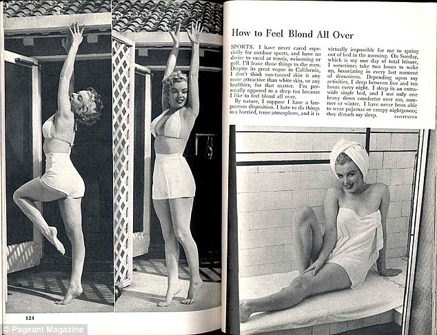 Relaxed: But Marilyn also said she didn't like to make her exercises seem to regimented