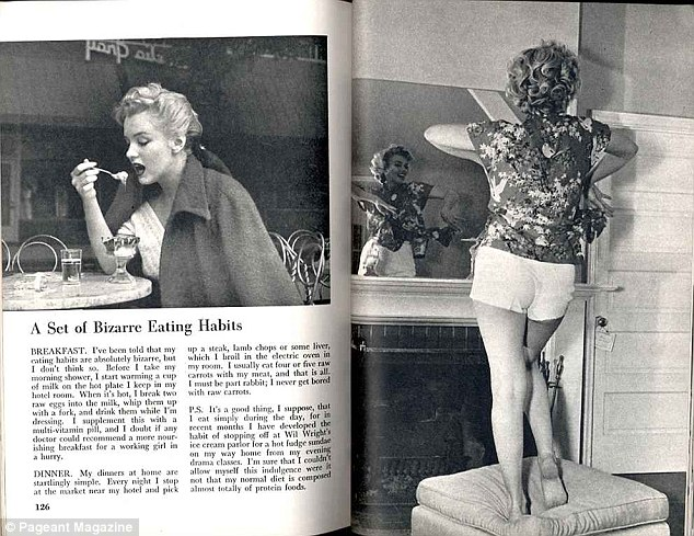 Balanced: Marilyn often treated herself to a hot fudge Sunday after a long day of work