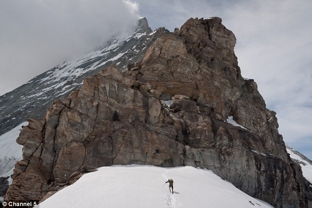 Intimidating: During training for his epic challenge, Mr Andrew hiked up peaks in the Alps and Grampians