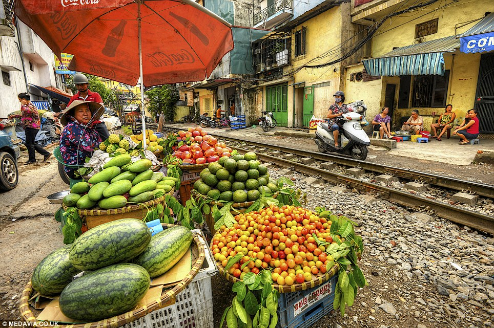 In place of a refreshments trolley: The Vietnamese government is currently seeking more than £1billion of investment to improve safety features on its railway