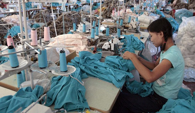 Many shirts are manufactured in the Far East. File picture