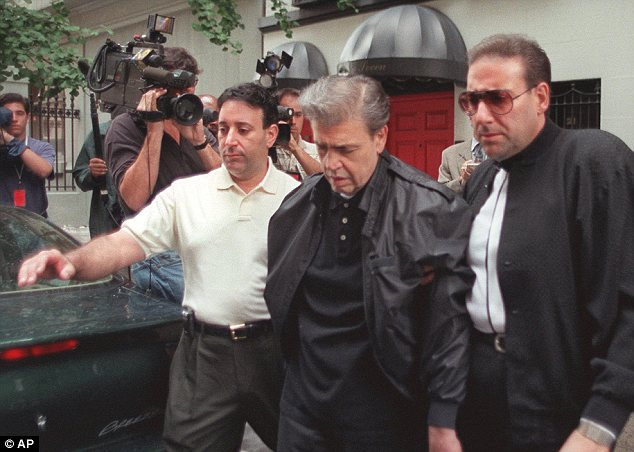 Vincent 'Chin' Gigante (C) was a Genovese crime family boss who pretended to be mentally ill in order to escape responsibility for his crimes -- but Sharpton helped foil his plot when he taped other mob figures discussing the ruse