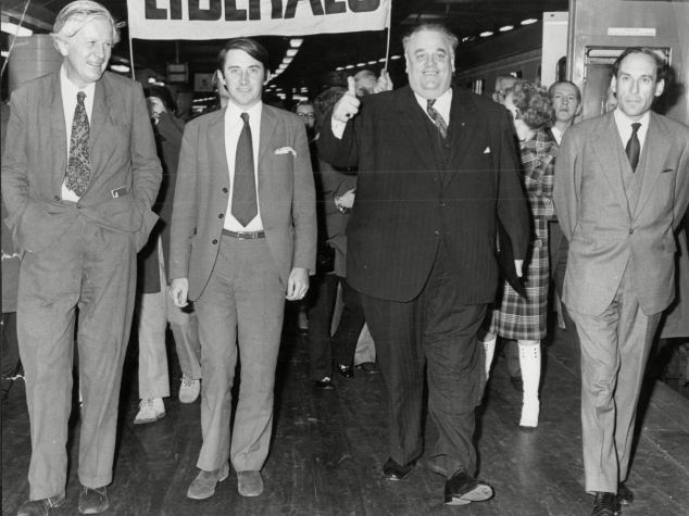 The Liberal Party, bruised by the negative publicity surrounding the 1979 conspiracy to murder trial of its leader Jeremy Thorpe (right) and aware of Smith's 'electoral Midas touch', was eager to sweep the problems under the carpet