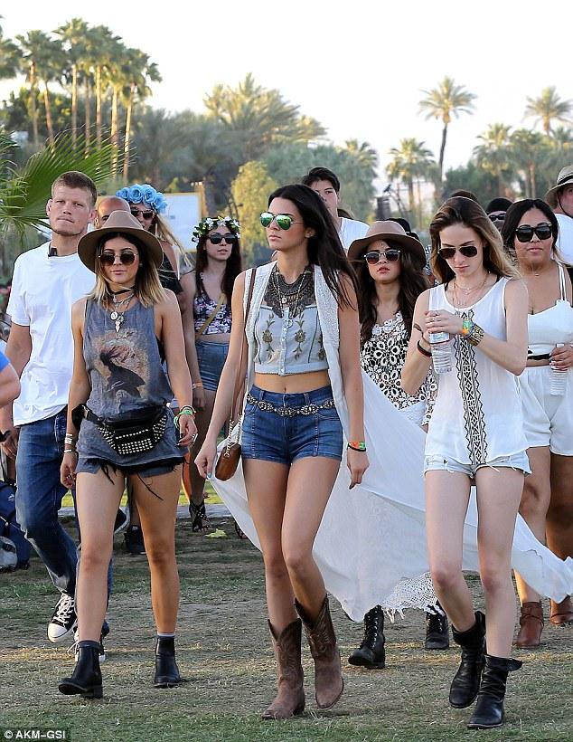 Kendall Jenner Kylie Jenner Selena Gomez Coachella