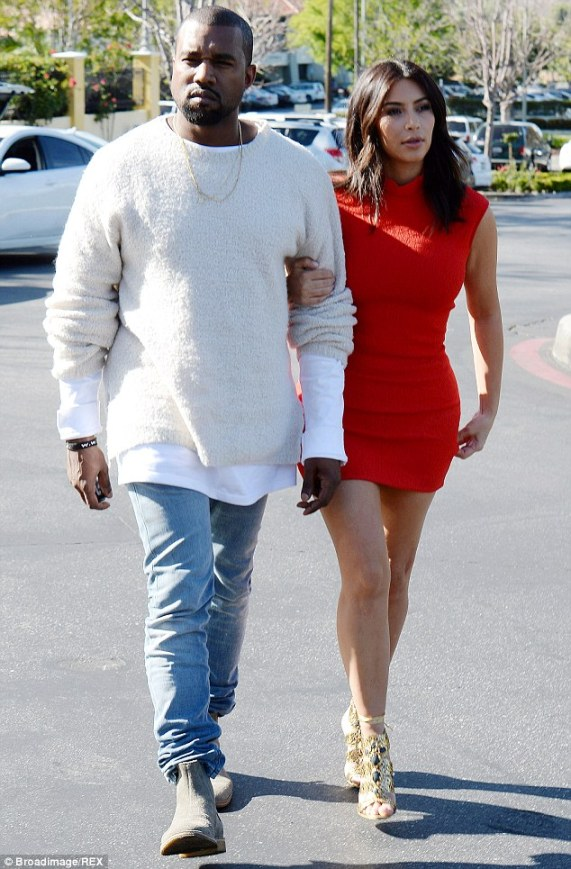 Wedding bliss (nearly): Kanye West and Kim Kardashian may be forced to marry before their Paris ceremony because of French law