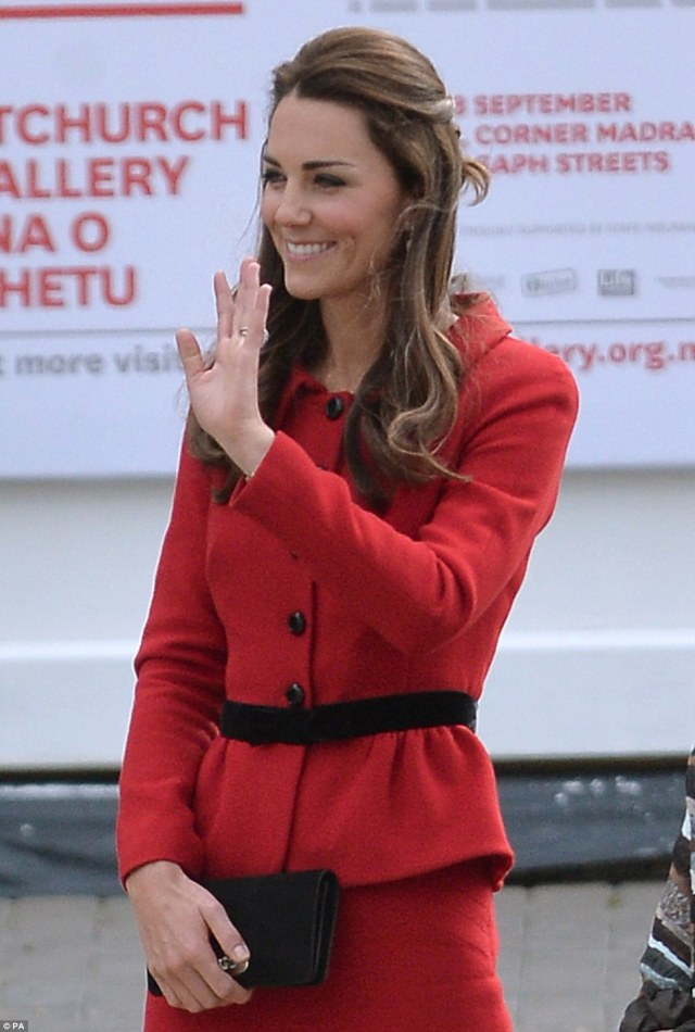 Busy: Kate and William have a busy day ahead of them but will enjoy a day off from the Royal Tour on Tuesday
