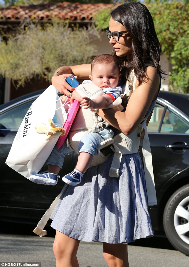 Jordana Brewster Takes Cute Six Month Old Son Julian To