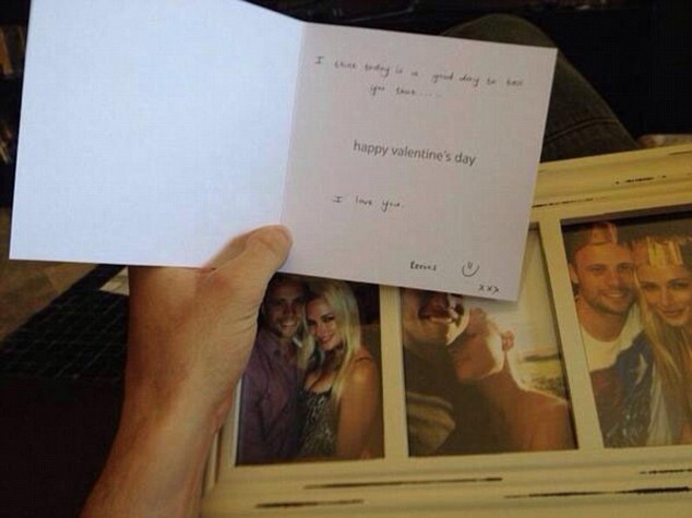 'I think today is a good day to tell you that... I love you': Pistorius wept in court as he was asked to read out this Valentine's Day card message which was given to him by Reeva Steenkamp, along with a wrapped picture frame with photographs of the pair in loving poses, hours before he shot her dead