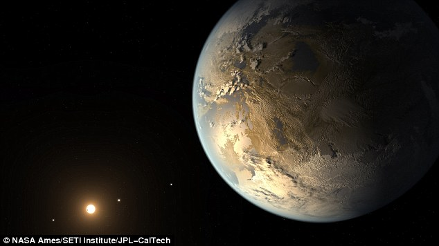 Astronomers have announced they have discovered a planet called Kepler-186f, artist's illustration shown. It is the first Earth-sized planet outside out solar system that has been discovered in the habitable zone of a star, which means it could have both water and life on its surface