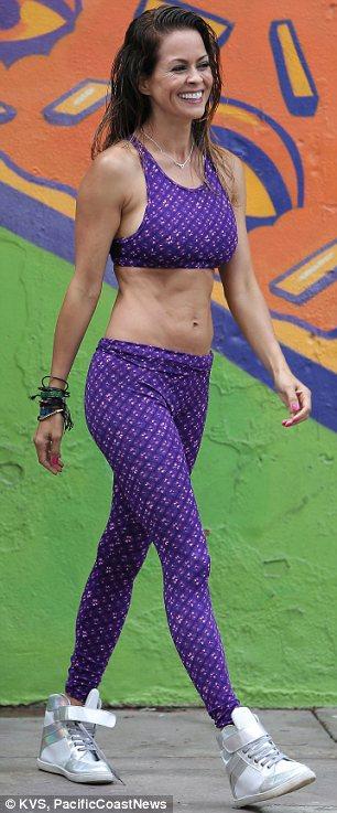 Brooke Burke Charvet Models Her Sportswear Collection For
