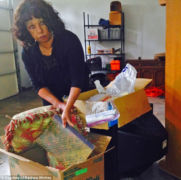 Packing it in: Gathering her belongings in the house she shared with Vernon for 13 years, Barbara isn't sure about her next move
