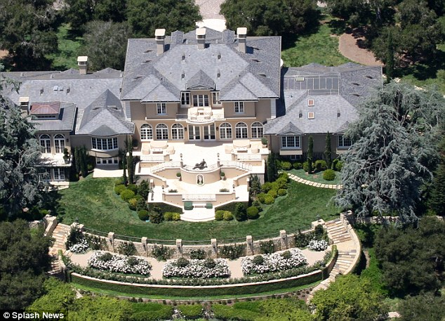 Palatial: Despite the numerous rooms in Oprah's Santa Barbara mansion, Barbara says she and Vernon were never asked to stay overnight