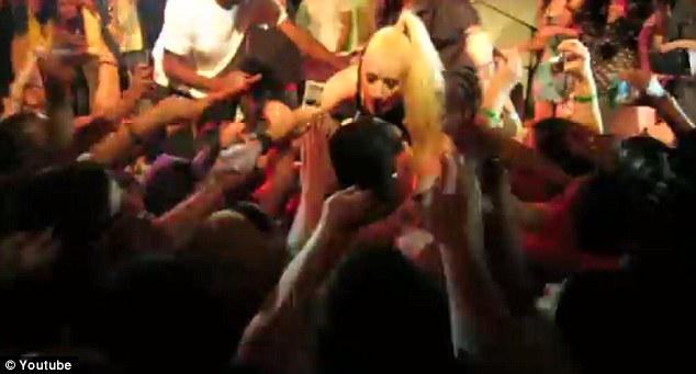 Crowd surfer: The 23-year-old rapper loves to jump into the crowd during her shows - but hates how some fans grope her inappropriately