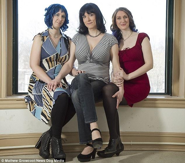 adolescent lesbiennes trio