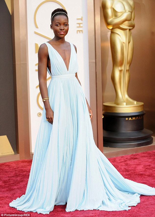 Red carpet wonder: Lupita didn't put a foot wrong throughout awards season, and wowed fashion critics at the Oscars with her gorgeous gown