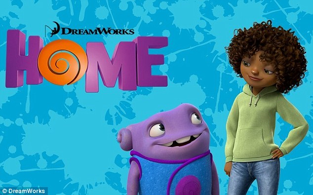 Making history: The Battleship starlet voices the first African-American lead in a 3D animated flick for DreamWorks' Home - due out November 26