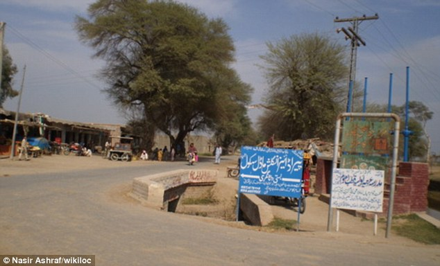 'Amputation': According to local media reports, the attack took place in Shahpur, Pakistan (file photo)