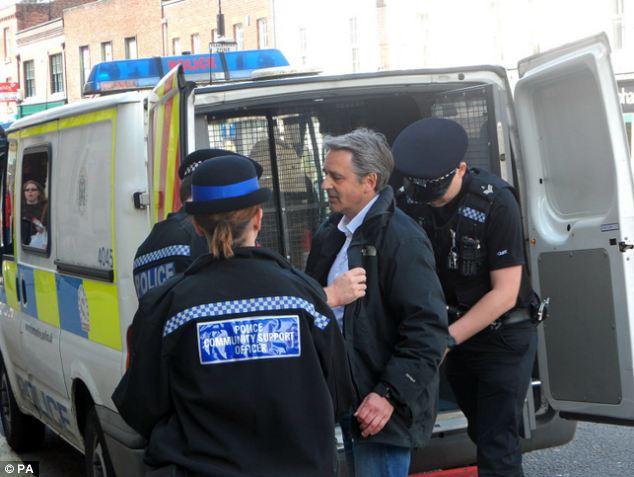 Image result for images of  UK cops arresting reporter