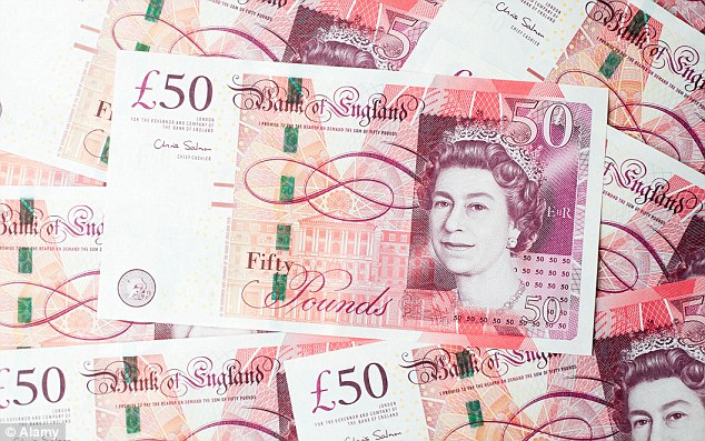 Image result for 50 pound notes