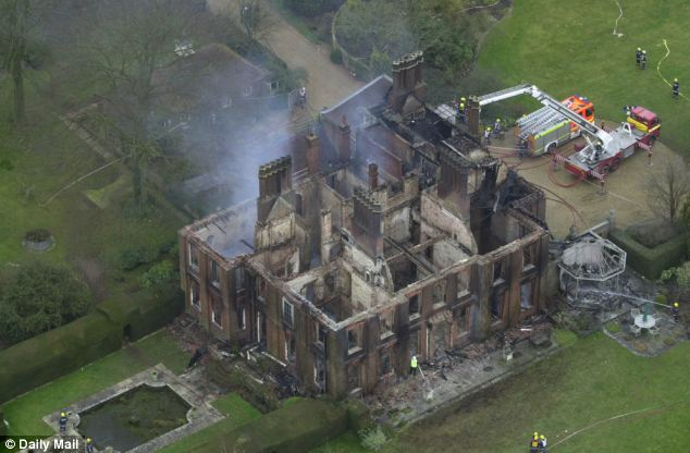 Destroyed: The fire claimed the lives of the then Romsey Conservative MP Michael Colvin and his wife, Nichola, in 2000