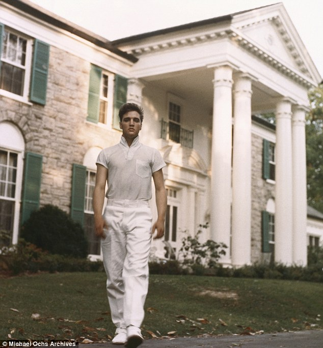 The King: Elvis Presley at his beloved Graceland mansion in 1957 in Memphis, Tennessee