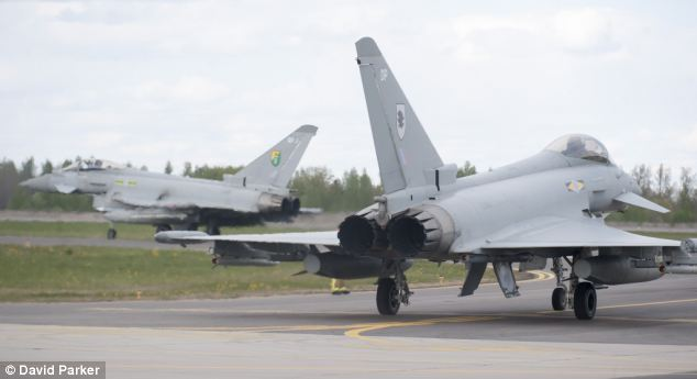 The four Typhoon aircraft have been stationed to assist with the unstable situation